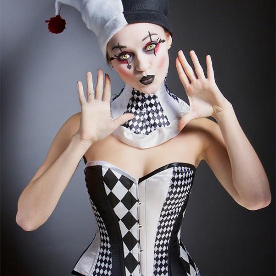 Harlequin doll corset